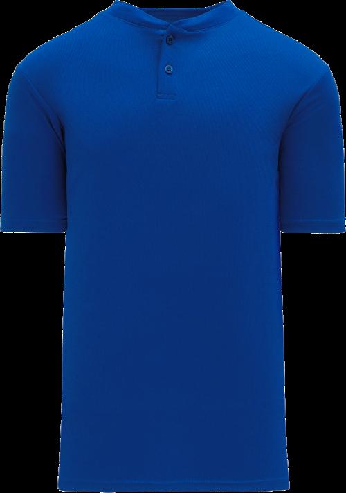 Basic Two Button Baseball Jersey - Royal