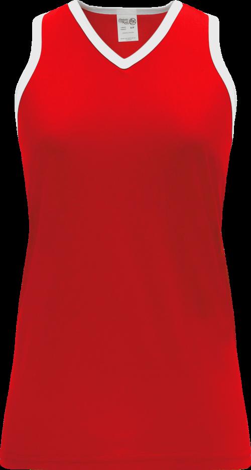 Ladies LF583L Field Lacrosse Jersey - Red/White