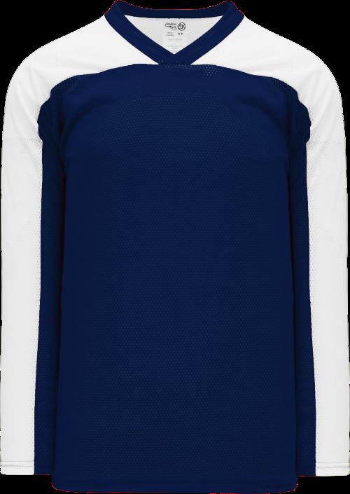 LF153 Polymesh Box Lacrosse Jersey - Navy/White