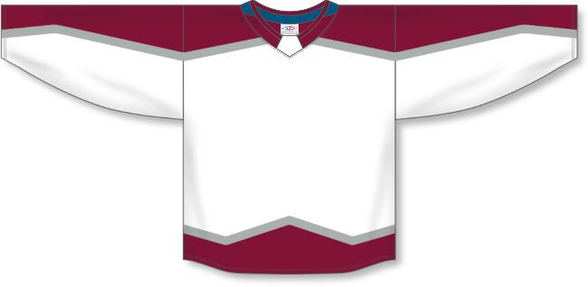 Colorado Avalanche Style White Hockey Jersey
