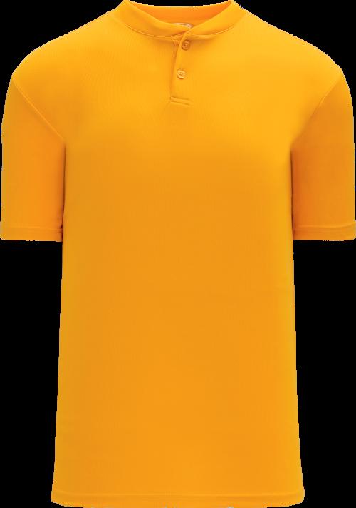 Basic Two Button Baseball Jersey - Gold