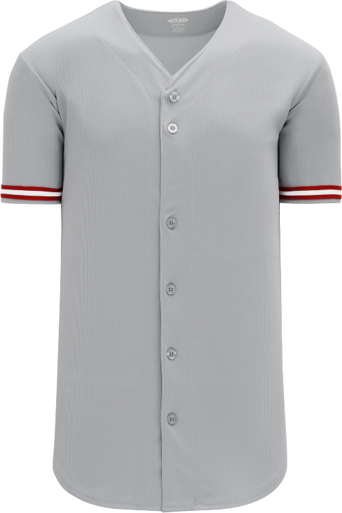 Cincinnati Reds Style Full Button MLB Style Road Jersey
