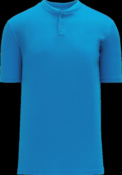 Basic Two Button Baseball Jersey - Pro Blue