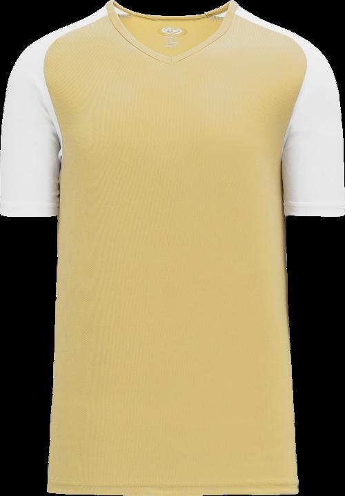 Raglan Pullover Baseball Jersey - Vegas Gold/White