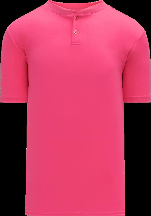 Basic Two Button Baseball Jersey - Pink