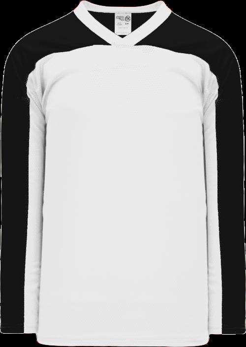 LF153 Polymesh Box Lacrosse Jersey - White/Black