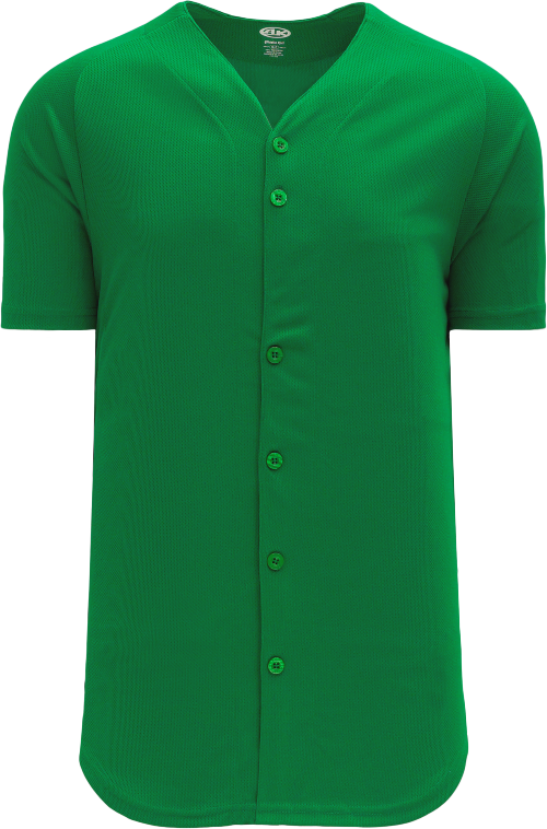 Full Button Proflex Baseball Jersey - Kelly