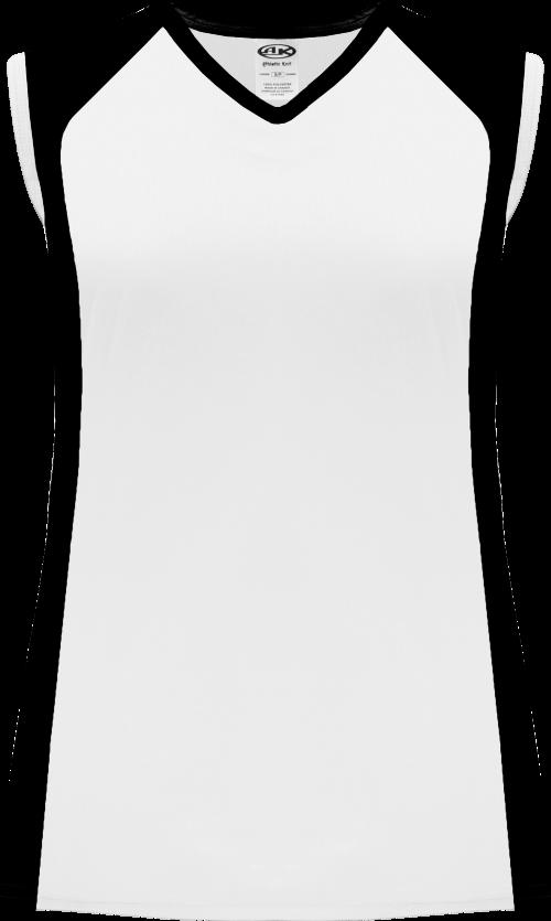 Ladies LF601L Dryflex Lacrosse Jersey - White/Black