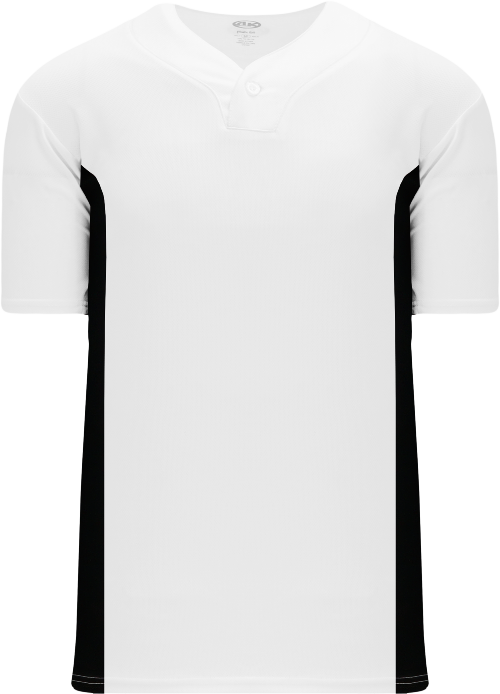 Home Run One Button Baseball Jersey - White/Black