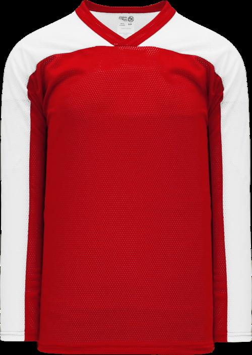 LF153 Polymesh Box Lacrosse Jersey - Red/White