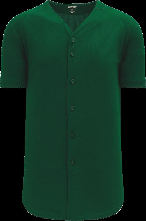 Full Button Proflex Baseball Jersey - Forest