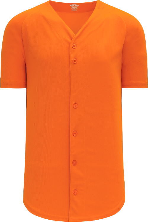 Full Button Proflex Baseball Jersey - Orange