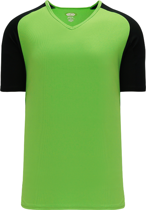 Raglan Pullover Baseball Jersey - Lime Green/Black