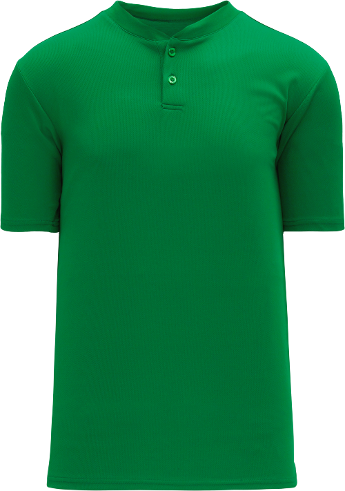 Basic Two Button Baseball Jersey - Kelly