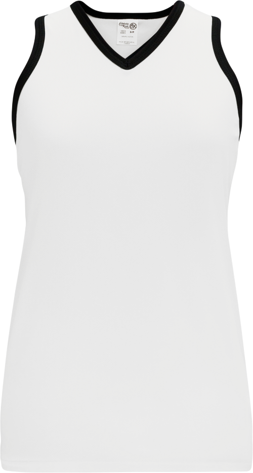 Ladies LF583L Field Lacrosse Jersey - White/Black