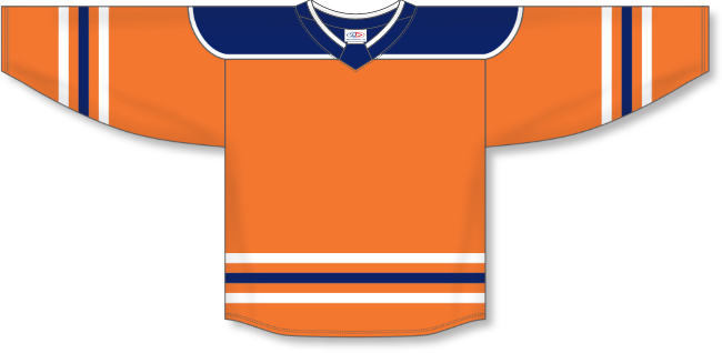Edmonton Oilers Style Team Color Hockey Jersey