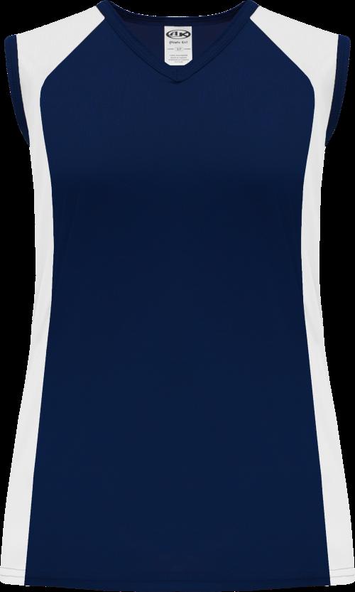 Ladies LF601L Dryflex Lacrosse Jersey - Navy/White