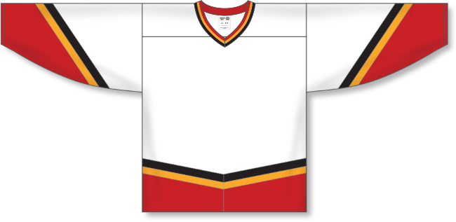 Calgary Flames Style White Throwback Hockey Jersey
