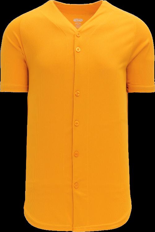 Full Button Proflex Baseball Jersey - Gold
