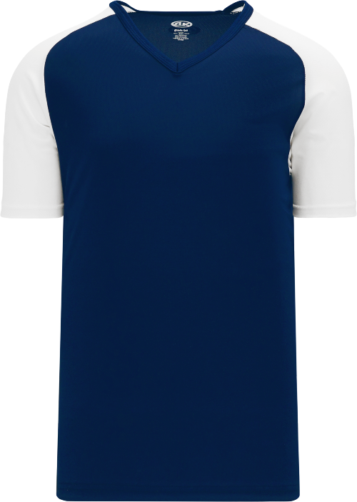 Raglan Pullover Baseball Jersey - Navy/White