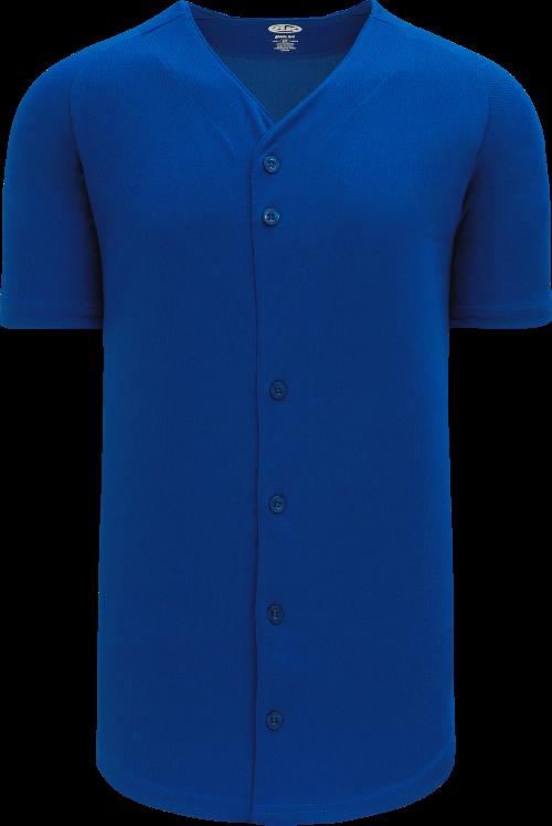 Full Button Proflex Baseball Jersey - Royal