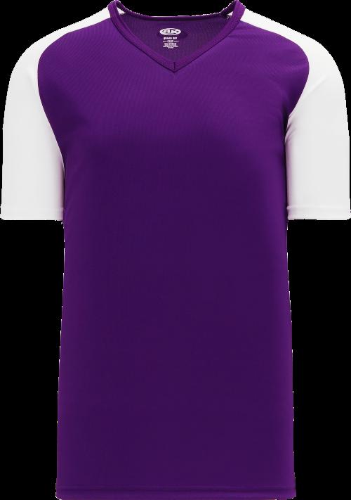 Raglan Pullover Baseball Jersey - Purple/White