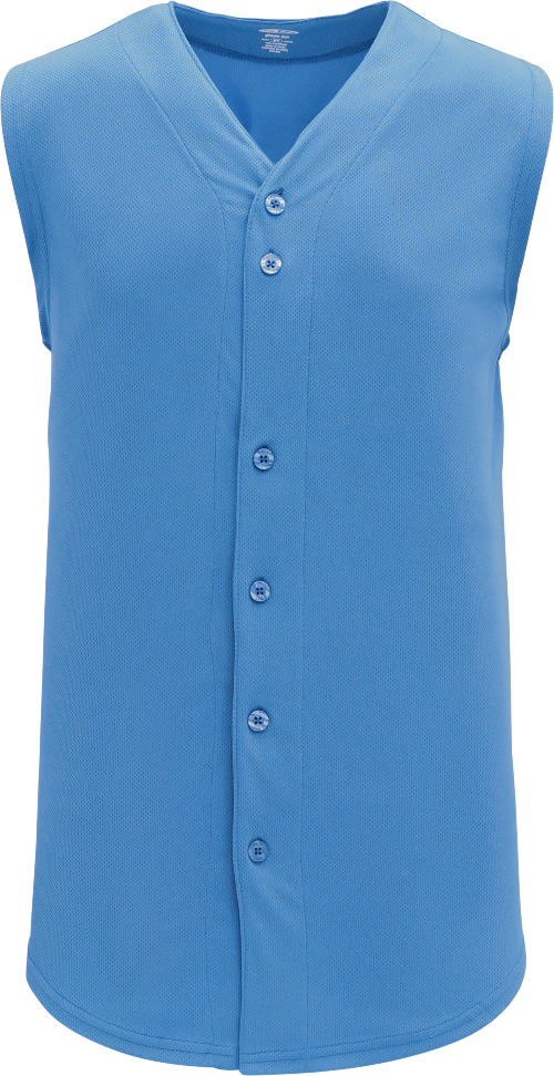 Full Button Vest Baseball Jersey - Columbia