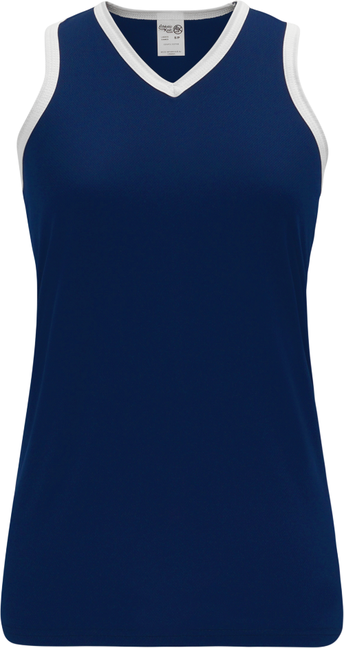 Ladies LF583L Field Lacrosse Jersey - Navy/White