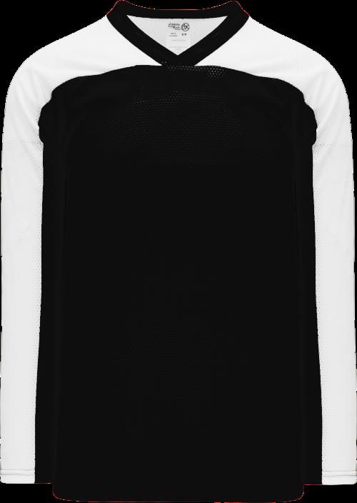 LF153 Polymesh Box Lacrosse Jersey - Black/White