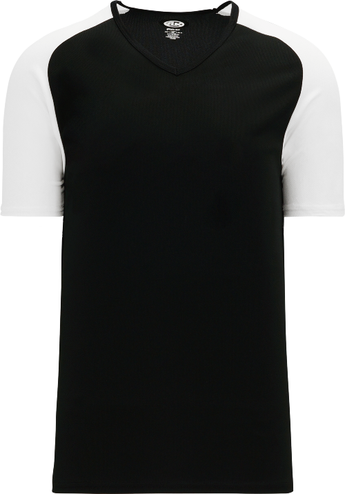 Raglan Pullover Baseball Jersey - Black/White