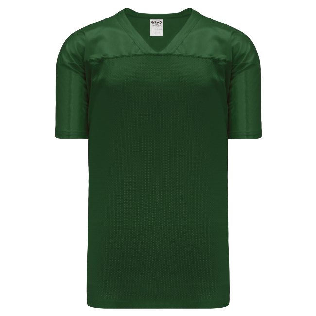 Adult F810 Blank Football Jersey - Forest Green