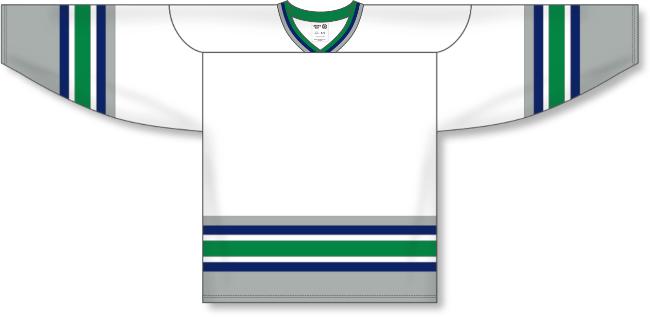 Hartford Whalers Style White Hockey Jersey