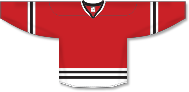 Chicago Blackhawks Style Team Color Hockey Jersey