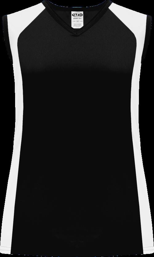 Ladies LF601L Dryflex Lacrosse Jersey - Black/White