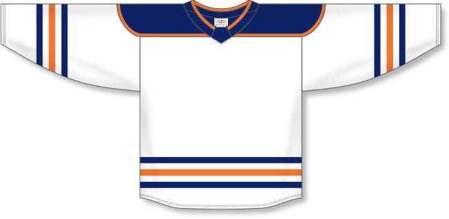 Edmonton Oilers Style White Hockey Jersey