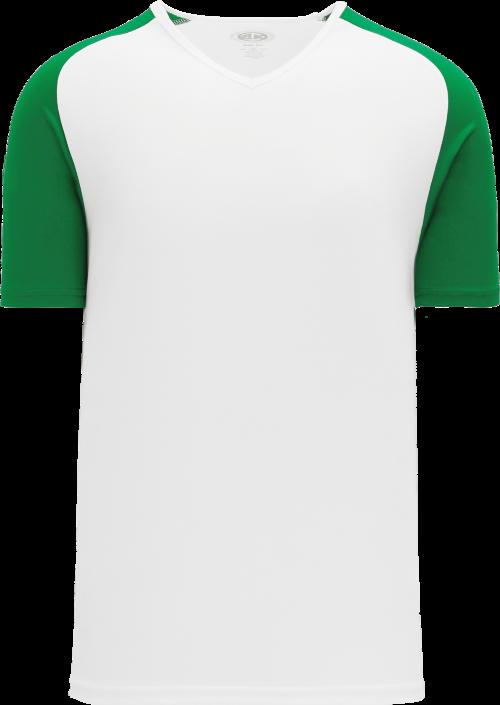 Raglan Pullover Baseball Jersey - White/Kelly