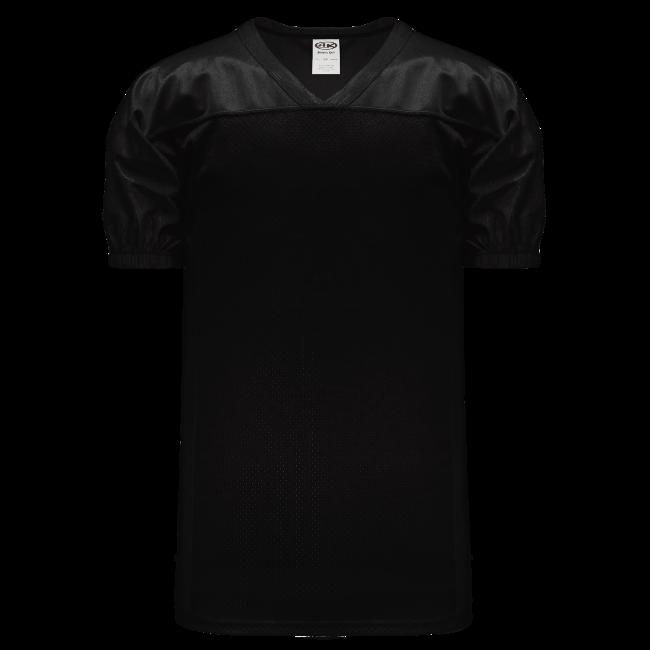 Adult F820 Blank Football Jersey - Black