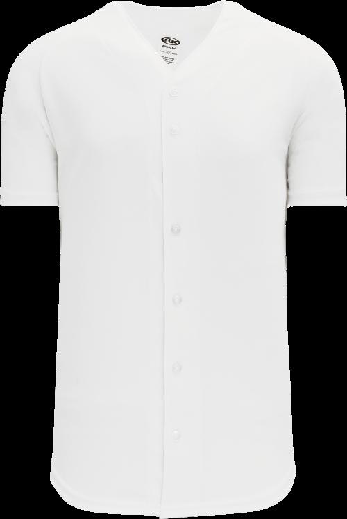 Full Button Proflex Baseball Jersey - White