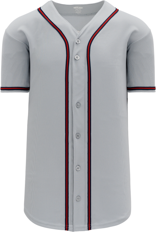 Atlanta Braves Style Full Button MLB Style Road Jersey