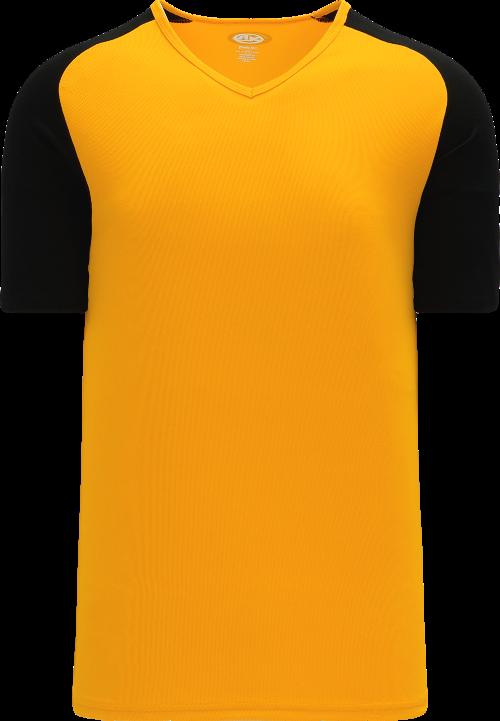 Raglan Pullover Baseball Jersey - Gold/Black
