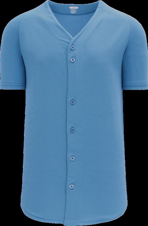 Full Button Proflex Baseball Jersey - Columbia