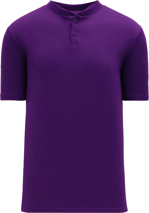 Basic Two Button Baseball Jersey - Purple