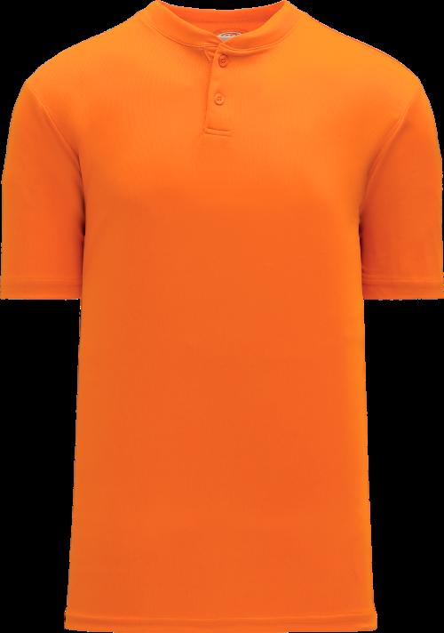Basic Two Button Baseball Jersey - Orange