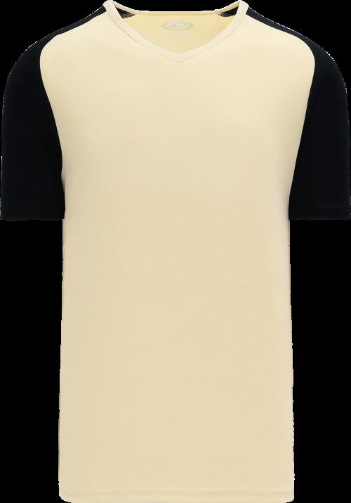 Raglan Pullover Baseball Jersey - Sand/Black
