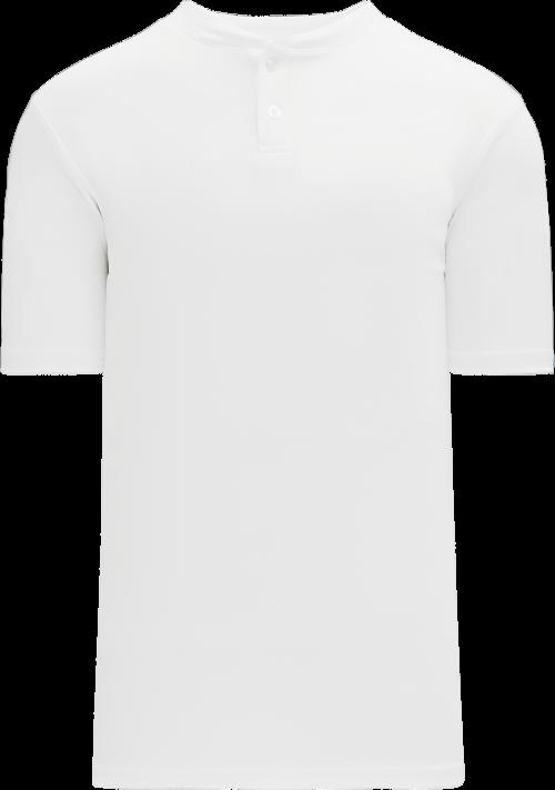Basic Two Button Baseball Jersey - White