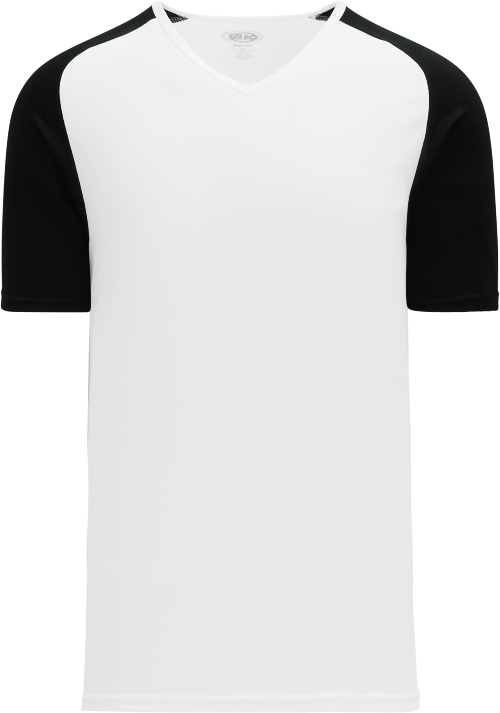 Raglan Pullover Baseball Jersey - White/Black