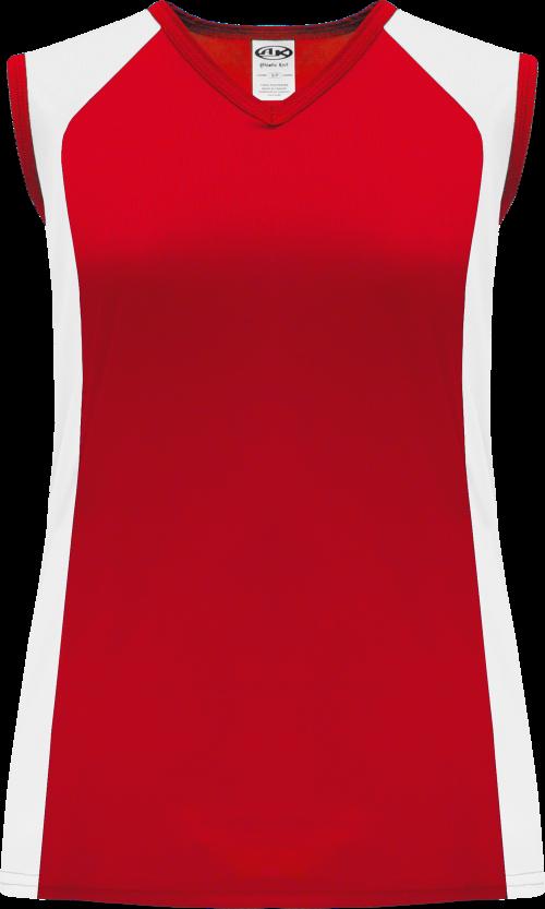 Ladies LF601L Dryflex Lacrosse Jersey - Red/White
