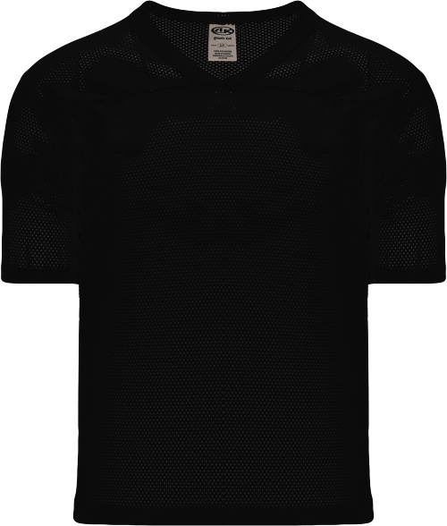 Adult TF151 Blank Touch Football Jersey - Black