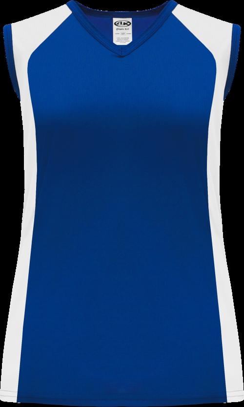Ladies LF601L Dryflex Lacrosse Jersey - Royal/White