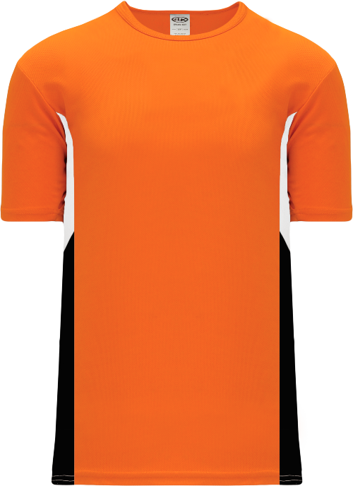 Triple Pullover Baseball Jersey - Orange/White/Black